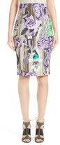 Versace Women's Print Pencil Skirt