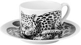 Fornasetti High Fidelity Teacup & Saucer - Leopardato Skin