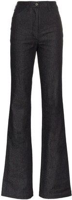 A Plan Application High Waisted Flared Jeans