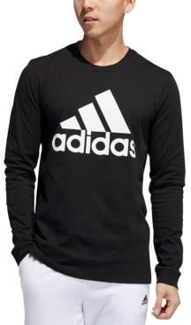 adidas Men's Logo Long-Sleeve T-Shirt