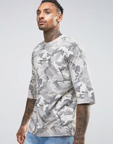 Criminal Damage Oversized Camo Tee With Dropped Shoulders