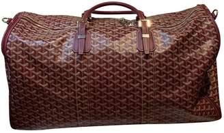 Goyard Croisiere Burgundy Cloth Travel bags