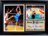 Dallas Mavericks Dirk Nowitski Photo Stat Frame