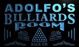 AdvPro Name pj565-b Adolfo's Billiards Room Rack 'em Bar Beer Neon Light Sign