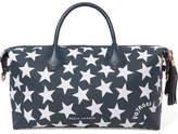 Eddie Harrop - Voyager Leather-trimmed Printed Canvas Weekend Bag - Navy