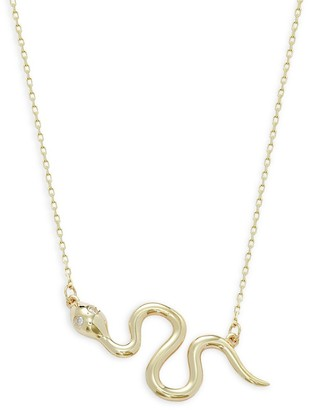 Saks Fifth Avenue 14K Yellow Gold Snake Pendant Necklace