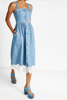 Sjyp Denim Dress with Lace