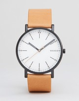 Skagen SKW6352 Signature Leather Watch In Tan
