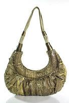 R & Y Augousti R&Y Augousti Multi-Color Snakeskin Double Handle Shoulder Handbag