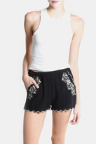 Love Tree Rose Embroidered Shorts