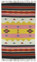 Novica Hand-crafted Indo Wool 'Winter Feast' Dhurrie Rug (3' x 5')