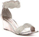 Adrianna Papell Adelaide Metallic Braided Rope Wedge Sandals