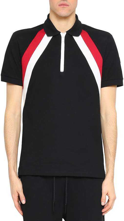Givenchy Striped Cotton Polo Shirt