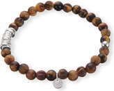 Tateossian Discs tiger's eye and sterling silver bracelet