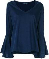 Polo Ralph Lauren flared sleeve T-shirt - women - Cotton/Modal - XS