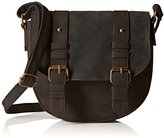 T-Shirt & Jeans Small Two Toned Saddle Bag W/ Buckles