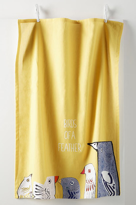 Anthropologie Birds of a Feather Dish Towel By in Yellow Size DISHTOWEL