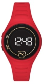 Puma Forever Faster Lcd Red Polyurethane Watch 42mm