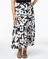 INC International Concepts Plus Size Floral-Print Maxi Skirt, Only at Macy's