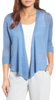 Nic+Zoe Four Way Convertible 3/4 Sleeve Linen Blend Cardigan (Regular and Petite)