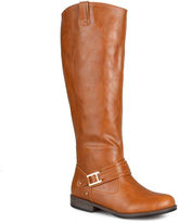 Journee Collection Kai Ankle-Strap Pull-On Womens Riding Boots