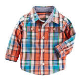 Osh Kosh Oshkosh Long Sleeve Button Front Shirt-Baby Boys