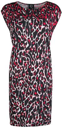McQ Red and Black Leopard Print Sleeveless Dress XL