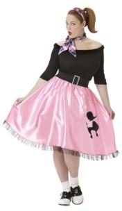 Amscan Sock Hop Sweetie 50'S Adult Women's Costume - Plus Size