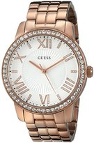 GUESS Women's U0329L3 Dazzling Oversized Rose Gold-Tone Watch with Genuine Crystals