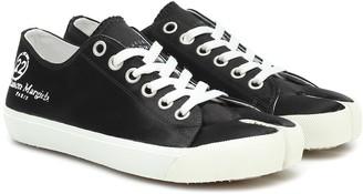 Maison Margiela Tabi satin sneakers