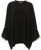 Valentino Maxi T-shirt With Feathers