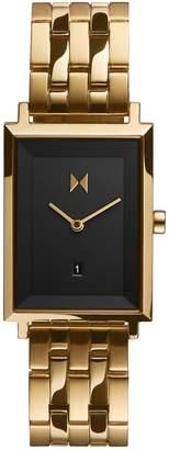 MVMT Signature Square Mason Goldtone Stainless Steel Bracelet Watch