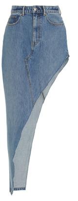 Alexander Wang Women's Asymmetric Denim Skirt - Medium Wash - Moda Operandi