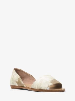 Michael Kors Mallory Tie-Dye Leather DOrsay Flat