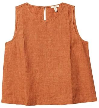 Eileen Fisher Petite Roundneck Shell (Cinnamon) Women's Blouse