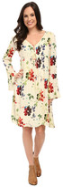 Stetson Textured Floral Print Rayon Dress
