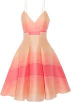 Badgley Mischka Pleated jacquard dress