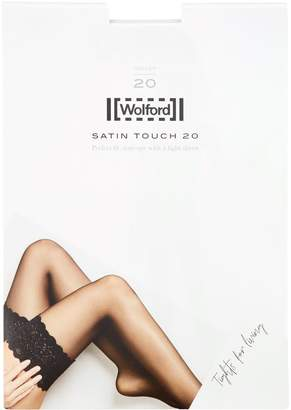 Wolford Satin Touch 20 Lace Knee-High Stockings