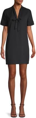 BCBGMAXAZRIA Tie-Neck Shfit Dress