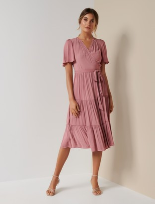 Ever New Anna Petite Flutter Sleeve Dress
