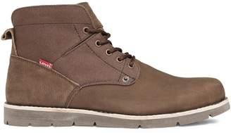 Levi's Jax Lace-Up Leather Canvas Boots