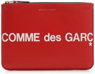 Comme des Garcons Logo Print Pouch Bag