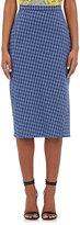 Altuzarra Women's Vic Plaid Seersucker Skirt-BLUE
