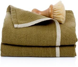 Caravan Set of 2 Chunky Linen Hand Towels