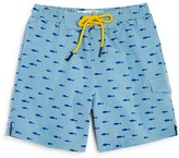 Sovereign Code Boys' Pismo Fish Print Swim Trunks - Little Kid