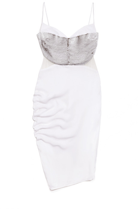 Narciso Rodriguez White Embroidery Dress