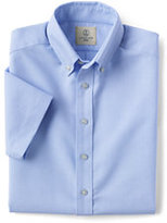 Classic Little Boys Short Sleeve Oxford Shirt-White