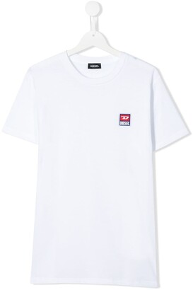 Diesel TEEN embroidered logo T-shirt