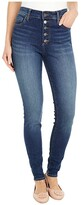Thumbnail for your product : KUT from the Kloth Mia High-Rise Skinny Button Fly in Goodly
