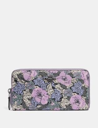 Coach Accordion Zip Wallet With Heritage Floral Print